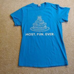 Gildan build a bear workshop blue t-shirt